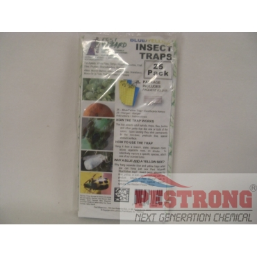 Blue Yellow Sticky Glue Board Insect Traps Combo-25 Boards in Pack