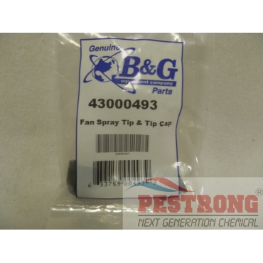 B&G Fan Spray Tip & Tip Cap 43000493 for Poly Sprayer