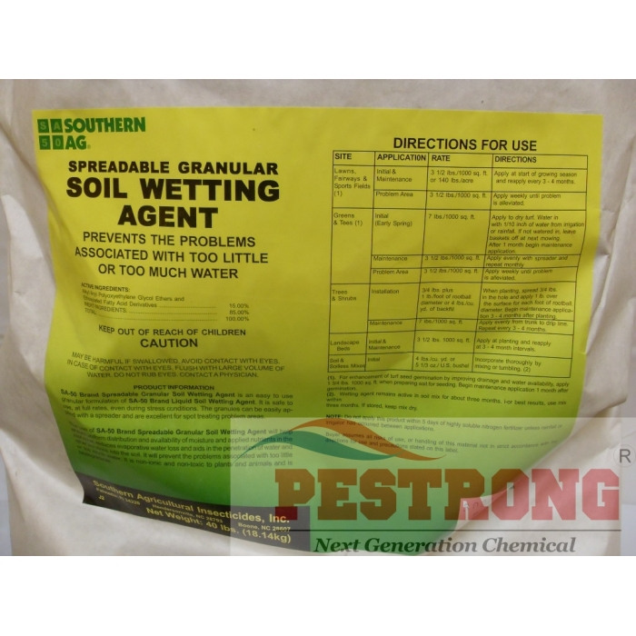 soil wetting agent granules for turf 40 lb