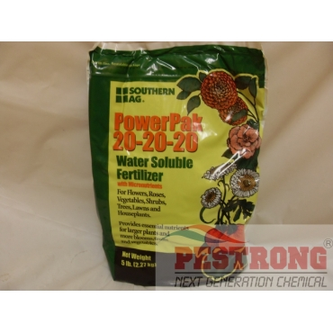 PowerPak 20-20-20 Water Soluble Fertilizer with micro - 5lb