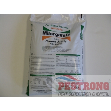 Milorganite 6-2-0 Greens Grade Plus 4% Iron Organic Fertilizer-50Lbs