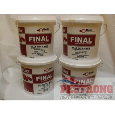 Final All Weather Blox Poison Rodenticide - 4 X 4 lbs