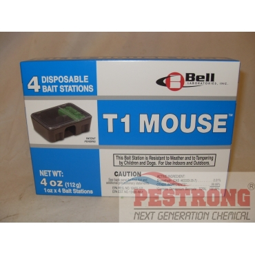 T1 Mouse Disposable Rodent Bait Stations - 1box (4each)