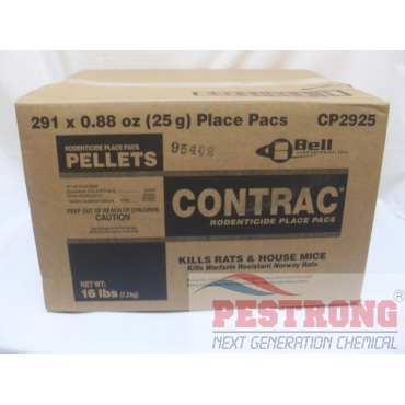 Contrac Rodent Place Pacs Pellets Rodenticide - 291 x 25gm