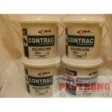 Contrac All Weather Blox Rodenticide for Rat Mice - 4x4 lb Pails