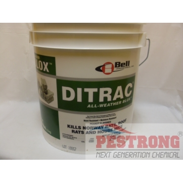 Ditrac All Weather Blox Rodenticide Diphacinone - 18 Lb