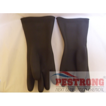 Unlined Latex Rubber Black Diamond Grip Gloves - Pair