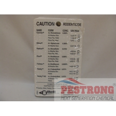 Protecta Bait Station Service Cards - Pack of 100