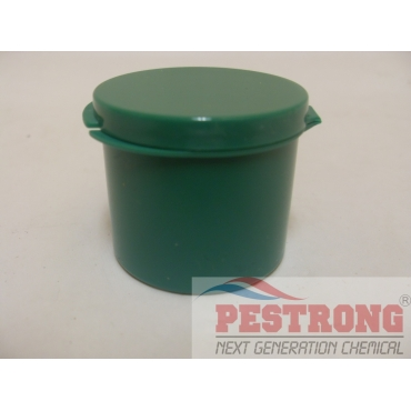 Green LDPE Hinge Top Polycons Jar 1 Oz - Pack of 100