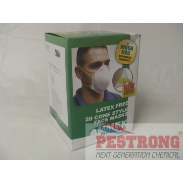Face Masks N95 Rated Cone Style - 20 pcs
