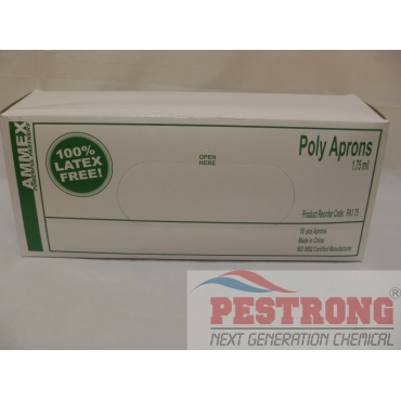 "Poly Aprons Disposable Protector 1.75ml 28"" x 36.5"" - 50ea"