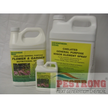 Chelated Flower Garden Nutritional Spray - 16 Oz - 1 - 2.5 Gallon