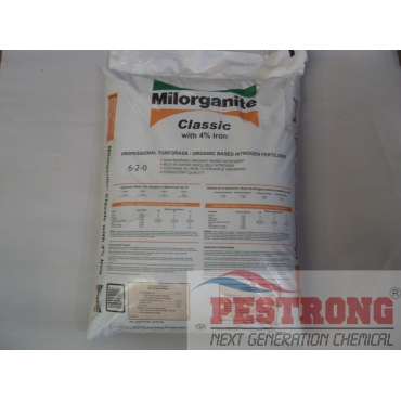 Milorganite 6-2-0 Classic Plus 4% Iron Organic Fertilizer-50Lbs