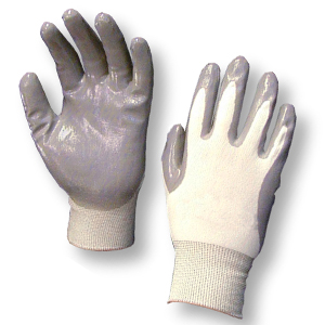 Nitrile Foam Dipped Reusable Gloves-12 Pairs
