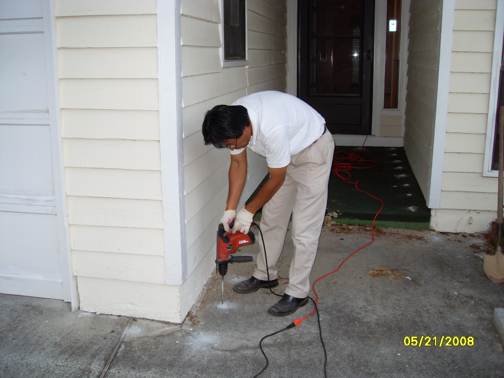termite drilling job with pestrong