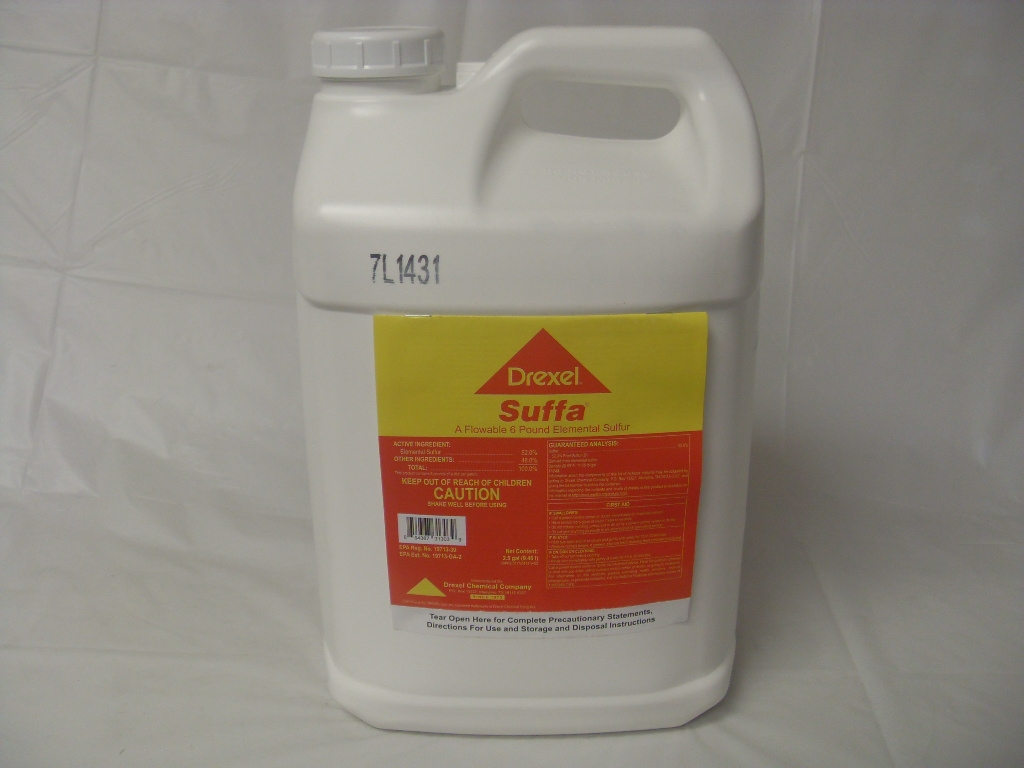 Drexel Suffa A Flowable 6 Pound Elemental Sulfur - 2 5 Gallon
