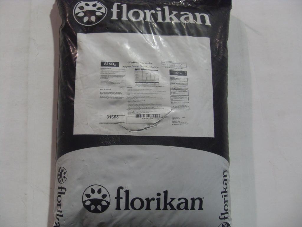 Florikan Aluminum Sulfate, Florikan Sapphire 3 4 Month Aluminum Sulfate    50 Lb